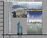 Burj Dubai and Emirates Towers
