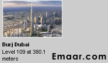 Burj Dubai height