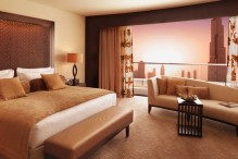 The Address Hotel room with Burj Dubai view