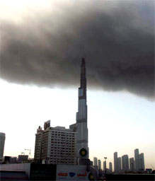 Burj Dubai and the smoke