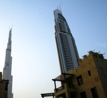 Address Hotel and Burj Dubai tower